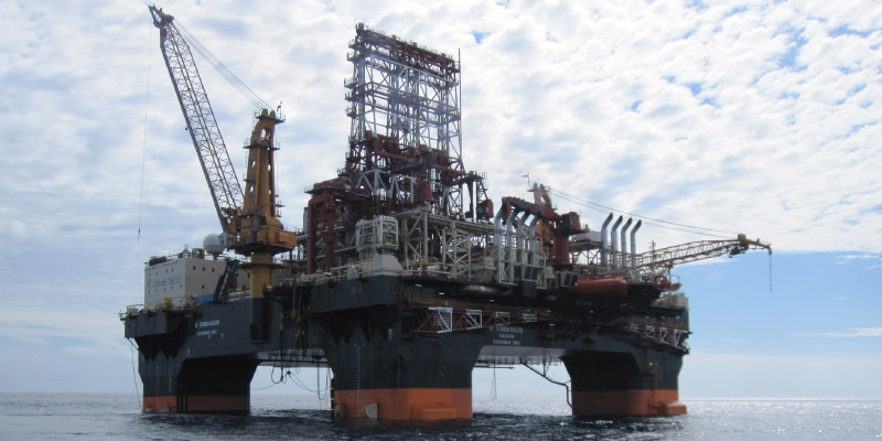 Oil extraction platform off the Cambodian coast