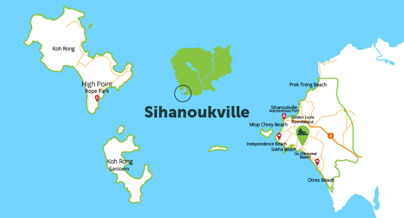 西哈努克地图